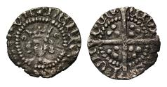 World Coins - Henry V, silver Halfpenny, class C, broken annulets by crown
