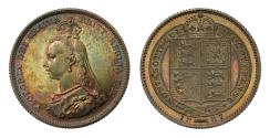 World Coins - Victoria 1887 proof Shilling, Jubilee issue