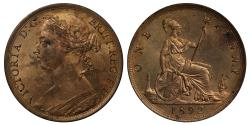 World Coins - Victoria 1892 Penny