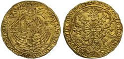 World Coins - Edward IV first reign, gold Rose Ryal, light coinage, Norwich