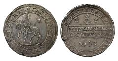 World Coins - Charles I 1643 Oxford Halfpound
