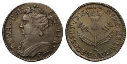 World Coins - Scotland, Anne 1705 silver Five-Shillings