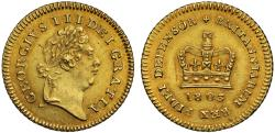 World Coins - George III 1803 Third-Guinea, last year for type