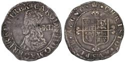 World Coins - Charles II Shilling, third Hammered Issue, IC over CE in rev legend, no stops obv mm