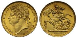 World Coins - George IV 1821 Sovereign
