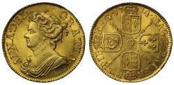 World Coins - Anne 1714 Guinea