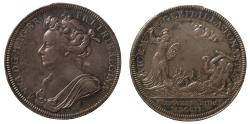 World Coins - Coronation of Anne, 1702.