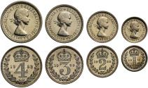 World Coins - Elizabeth II 1953 Maundy Set, coronation year, one year only type, rare