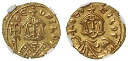 Ancient Coins - Theophilus, Gold Solidus, MS 5/5, 4/5.