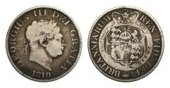 World Coins - George III 1819 Halfcrown, 9 struck over 8 extremely rare