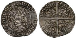 World Coins - Scotland, David II Second coinage Halfgroat