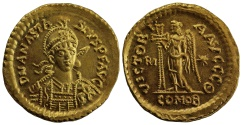 Ancient Coins - Ostrogothic Kingdom, Theodoric, Gold Solidus