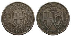 Ancient Coins - Commonwealth Blondeau Shilling