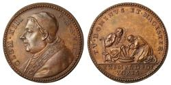 World Coins - Pope Clement XIII, The Washing of the Feet.