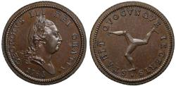 World Coins - Isle of Man, George III 1786 copper proof Halfpenny