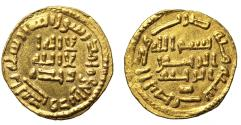 World Coins - Umayyad, Gold 1/2-Dinar, AH100