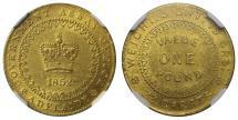 World Coins - Australia Adelaide 1852 Pound type 2 MS62