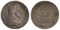 World Coins - Charles II 1681 Crown Elephant & Castle
