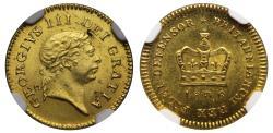 World Coins - George III 1806 Third-Guinea MS62