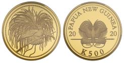 World Coins - PNG 2020 PR70 DCAM gold proof 1oz Bird of Paradise