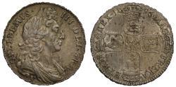 World Coins - William III Halfcrown 1696y, York Mint, ex Slaney Collection part I