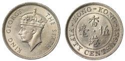 World Coins - Hong Kong 50-Cents, 1951.