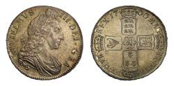 World Coins - William III 1700 Crown, third bust variety, DVODECIMO edge