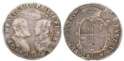 World Coins - Philip and Mary 1554 Shilling, with full Latin titles