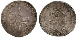 World Coins - Charles I Halfcrown, Tower, type 2a, mm plumes (1630-31)