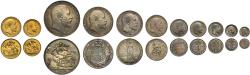 Ancient Coins - Edward VII 1902 matt proof set - Sovereign to Maundy Penny