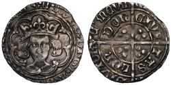 World Coins - Edward IV or V, silver Groat, initial mark halved sun and rose, London