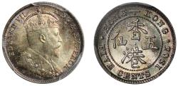 World Coins - Hong Kong, 5-Cents 1905H.