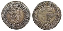 World Coins - Henry VII Groat, Profile Issue London, mint mark crosslet