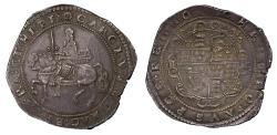 World Coins - Charles I Exeter Crown error legend