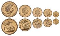 World Coins - Elizabeth II 2011 5-coin proof Set