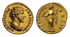 Ancient Coins - Marcus Aurelius, Gold Aureus, struck under Antoninus Pius, Rome mint
