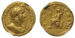 Hadrian, gold Aureus, NGC VF, 5/5, 4/5.
