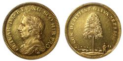 World Coins - Death of Oliver Cromwell, 1658.