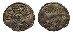 Ancient Coins - Alfred the Great Penny, with retrograde moneyer name Cuthberht, RareDM07644