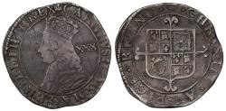 World Coins - Charles II Halfcrown, third Hammered Issue, no stops at obverse mint mark