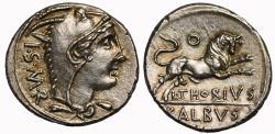 Ancient Coins - L. Thorius Balbus, Silver Denarius