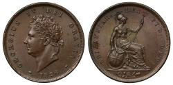 World Coins - George IV 1826 Penny