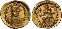 Theodosius II gold Solidus, Constantinople