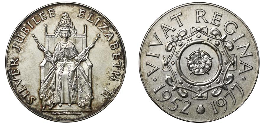 World Coins - Silver Jubilee of Elizabeth II, 1977.