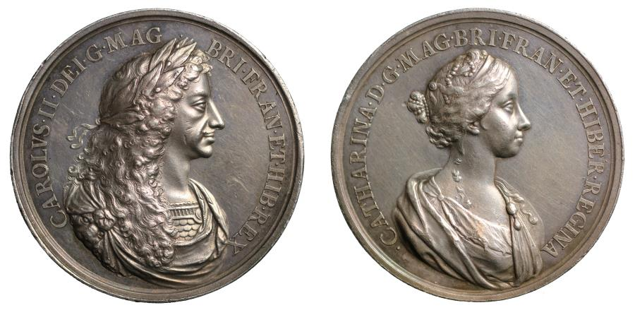 World Coins - Charles II, Marriage to Catherine of Braganza, 1662.