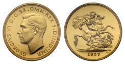 World Coins - George VI 1937 proof Five-Pounds PR62 Deep Cameo