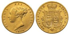 World Coins - Victoria 1860 Half-Sovereign, second young head
