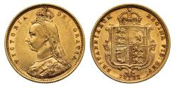 World Coins - Victoria 1887 Jubilee head Half-Sovereign Sydney DISH S502 not in Iverson Coll.