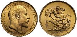 Ancient Coins - Edward VII 1902 Five-Pounds