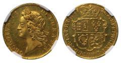 World Coins - George II 1728 proof Half-Guinea PF63